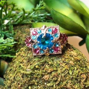 Brand new! Rose gold and gemstones ring/jewelry